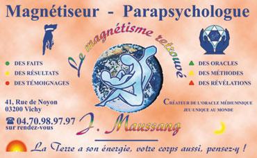 Guerisseur Magnetiseur J MAUSSANG Plan Du Site